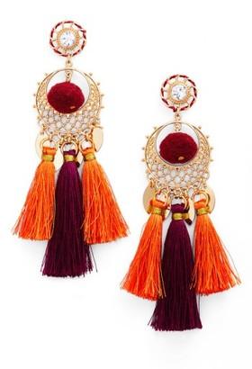 Women's Rebecca Minkoff Tassel Drama Chandelier Earrings $58 thestylecure.com