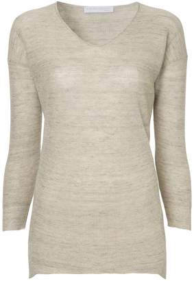 Fabiana Filippi rolled hem V-neck sweater