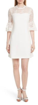 Women's Ted Baker London Raechal Lace Sleeve A-Line Dress $349 thestylecure.com