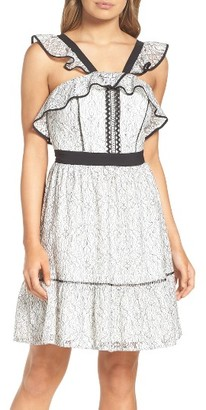 Women's Adelyn Rae Lace Babydoll Dress $100 thestylecure.com