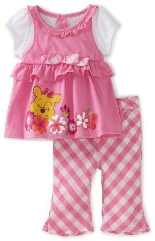 Disney Baby-Girls Infant Winnie Mock Shirt and Pant Set