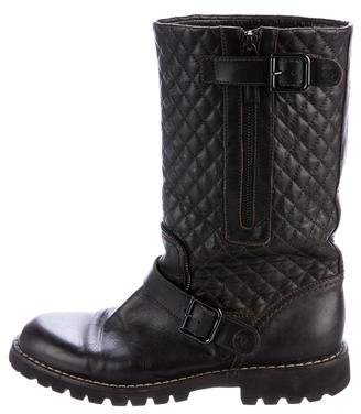 Chanel Quilted Leather Mid-Calf Boots