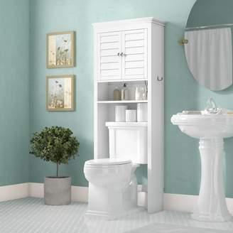 "Three Posts Crenshaw 27"" W x 66.5"" H Over the Toilet Storage"