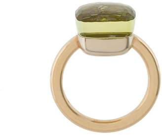 Pomellato 18kt rose gold & white gold Nudo lemon quartz ring