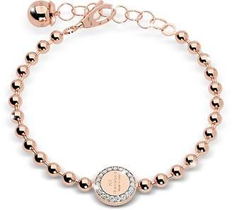 Rebecca Boulevard Stone Rose Gold Over Bronze Bracelet w/Stones