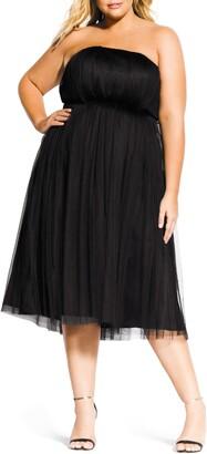 City Chic Tulle Midi Dress