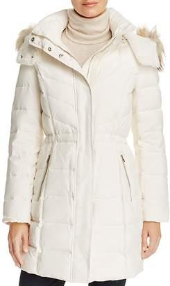 Cole Haan Faux Fur Trim Down Coat