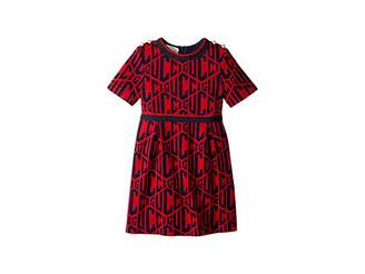 Gucci Kids Rhombus Cotton Jersey Dress (Little Kids/Big Kids)