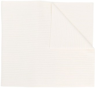 Y-3 oversized logo patch scarf