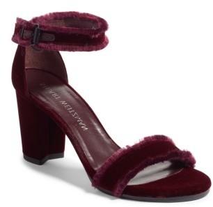Women's Stuart Weitzman Frayed Ankle Strap Sandal $425 thestylecure.com