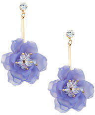 Romeo & Juliet Couture Linear Flower Earrings