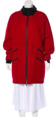 Public School Knee-Length Wool Coat