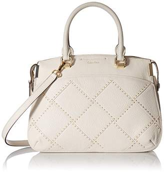Calvin Klein Raelynn Pebble Leather Outline Stud Satchel