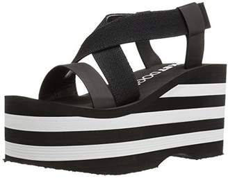 Rocket Dog Women's Bayer Webbing/Smooth PU W/Striped EVA Wedge Sandal