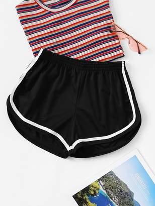Shein Wide Leg Elastic Waist Shorts