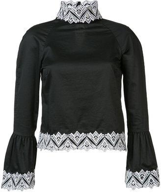 poplin embroidery blouse