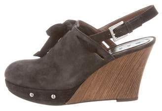 Marni Suede Wedge Clogs