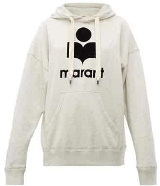 Etoile Isabel Marant Mansel Cotton Blend Hooded Sweatshirt - Womens - Ivory