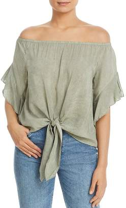 c35322c465 Elan International Off-the-Shoulder Tie-Front Top