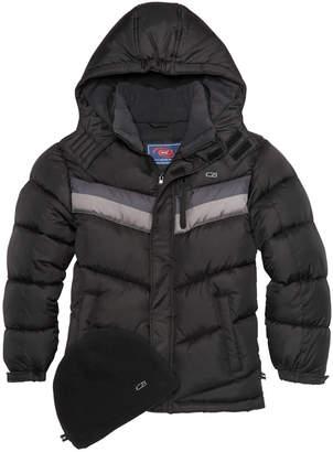 CB Sports Hooded Colorblocked Puffer Coat, Big Boys
