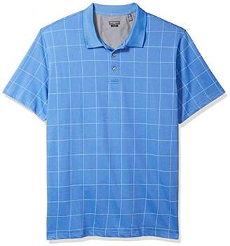 Van Heusen Men's Size Slim Fit Short Sleeve Printed Windowpane Polo Shirt