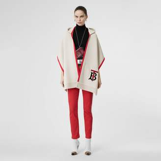Burberry Monogram Motif Cashmere Hooded Scarf