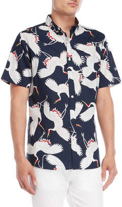 N. Oxford Lads Swan Button-Down Shirt