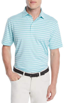 Peter Millar Men's Blaine Stripe Jersey Polo Shirt