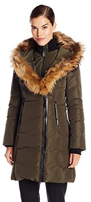 Mackage Women's Kay Down Coat with Fur Trim Hood $795 thestylecure.com