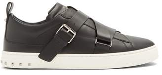 Valentino V Punk Low Top Leather Trainers - Mens - Black Multi