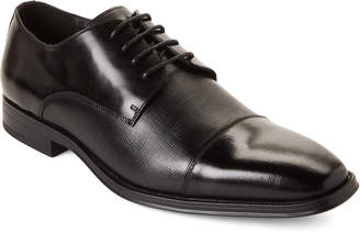 Karl Lagerfeld Paris Black Leather Cap Toe Oxfords
