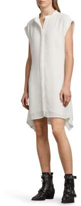 AllSaints Meda Textured Shirtdress