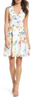 Women's Betsey Johnson Lace Fit & Flare Dress $158 thestylecure.com