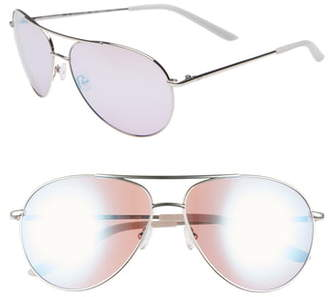 8a29f87271623 Nike Chance 61mm Mirrored Aviator Sunglasses