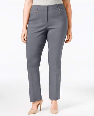JM Collection Plus & Petite Plus Size Curvy-Fit Slim-Leg Pants, Created for Macy's