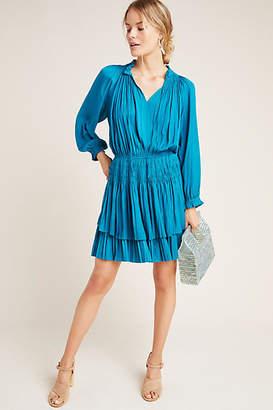 Current Air Samantha Pleated Peasant Mini Dress