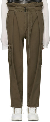 Juun.J Khaki Belted Trousers $580 thestylecure.com