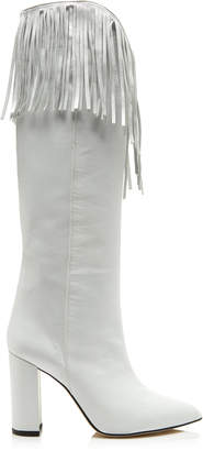 Paris Texas Fringed Leather Boots