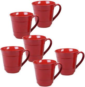Certified International Orbit Solid Color - Red 6-Pc. Mug 14oz Set