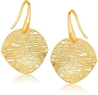Diamond Designs 14K Yellow Gold Fancy Textured Weave Earrings