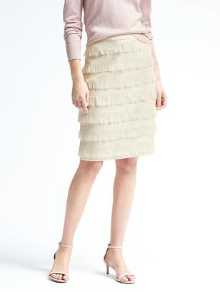 Heritage Fringe Pencil Skirt $98 thestylecure.com
