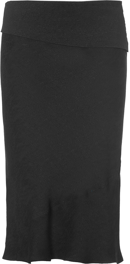 Narciso Rodriguez Black Knee-Length Skirt