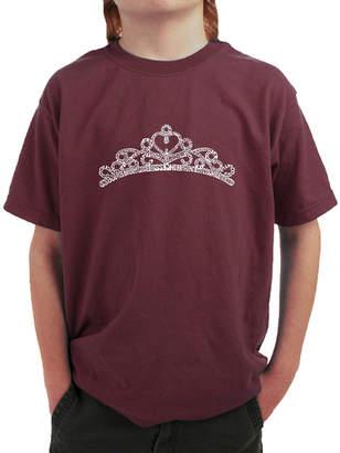 LOS ANGELES POP ART Los Angeles Pop Art Princess Tiara Graphic T-Shirt Boys
