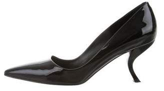 Roger Vivier Patent Leather Semi Pointed-Toe Pumps