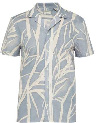 cd510e63032af4 Éditions M.R Editions M.r - Tahiti Short Sleeved Cotton Shirt - Mens - Blue