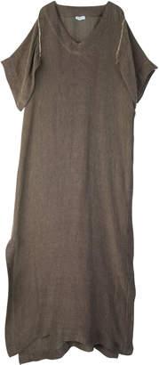 Tuinch Short Sleeve Linen Blend Kaftan