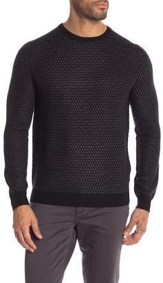 Toscano Textured Crew Neck Knit Sweater