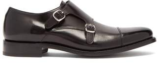 O'Keeffe Okeeffe - Bristol Monk Strap Leather Shoes - Mens - Black