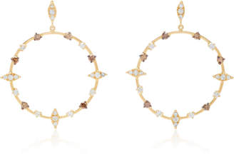 Carolina Neves 18K Gold Diamond Hoop Earrings