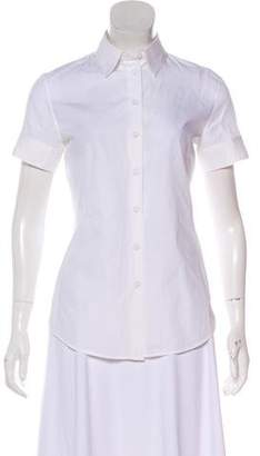 Jean Paul Gaultier Short Sleeve Button-Up Top